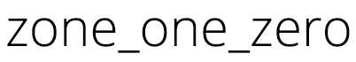 Zone One Zero